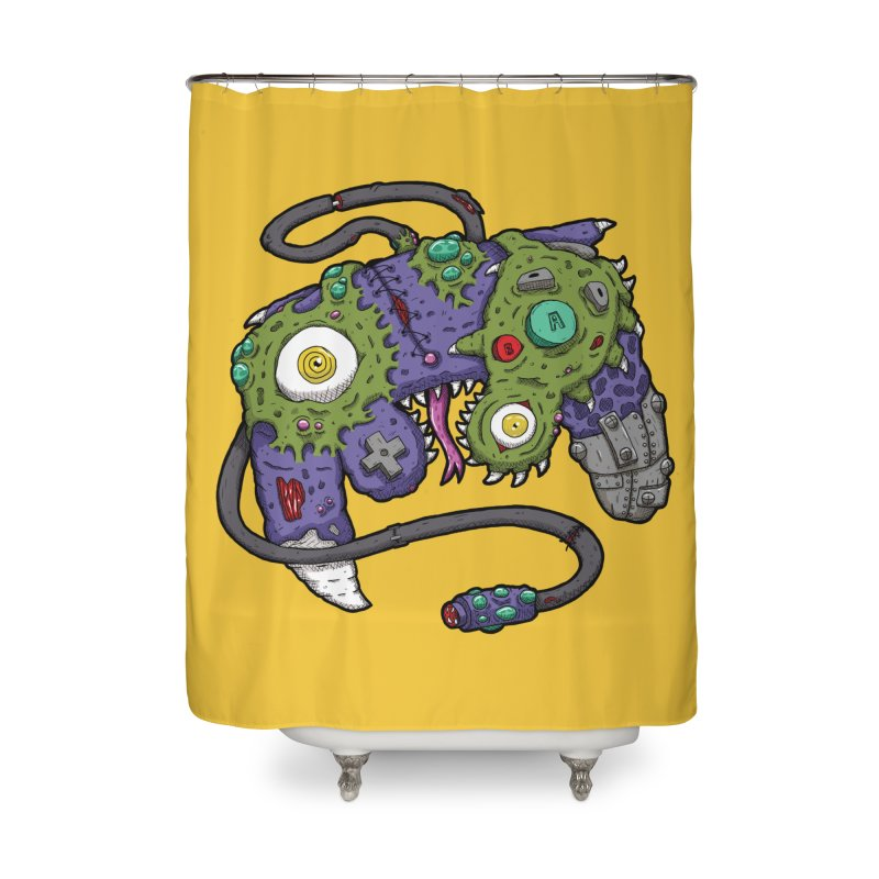 Controller Freaks - G4M3CUB3 Home Shower Curtain by Mystic Soda