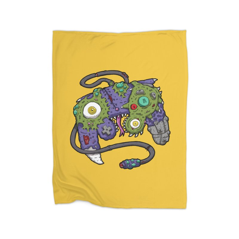 Controller Freaks - G4M3CUB3 Home Fleece Blanket Blanket by Mystic Soda