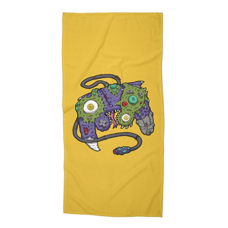 Controller Freaks - G4M3CUB3 Accessories Beach Towel by Mystic Soda