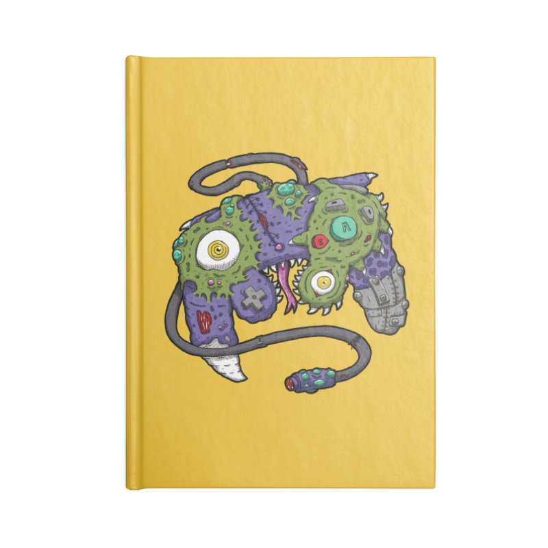 Controller Freaks - G4M3CUB3 Accessories Lined Journal Notebook by Mystic Soda