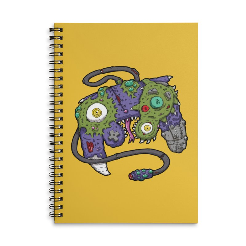 Controller Freaks - G4M3CUB3 Accessories Lined Spiral Notebook by Mystic Soda