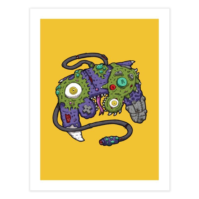 Controller Freaks - G4M3CUB3 Home Fine Art Print by Mystic Soda
