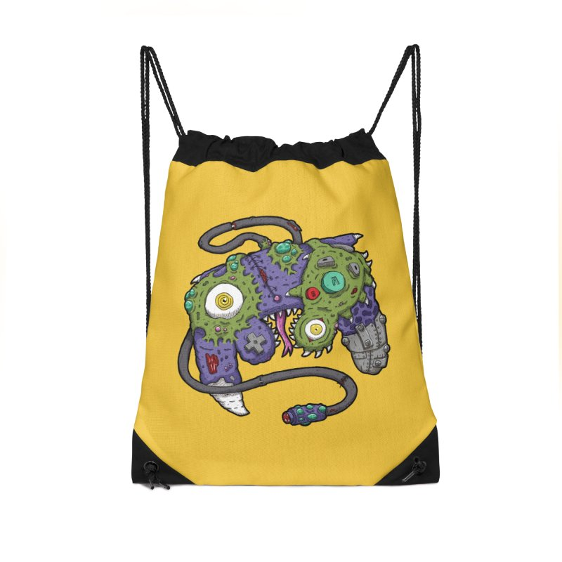 Controller Freaks - G4M3CUB3 Accessories Drawstring Bag Bag by Mystic Soda