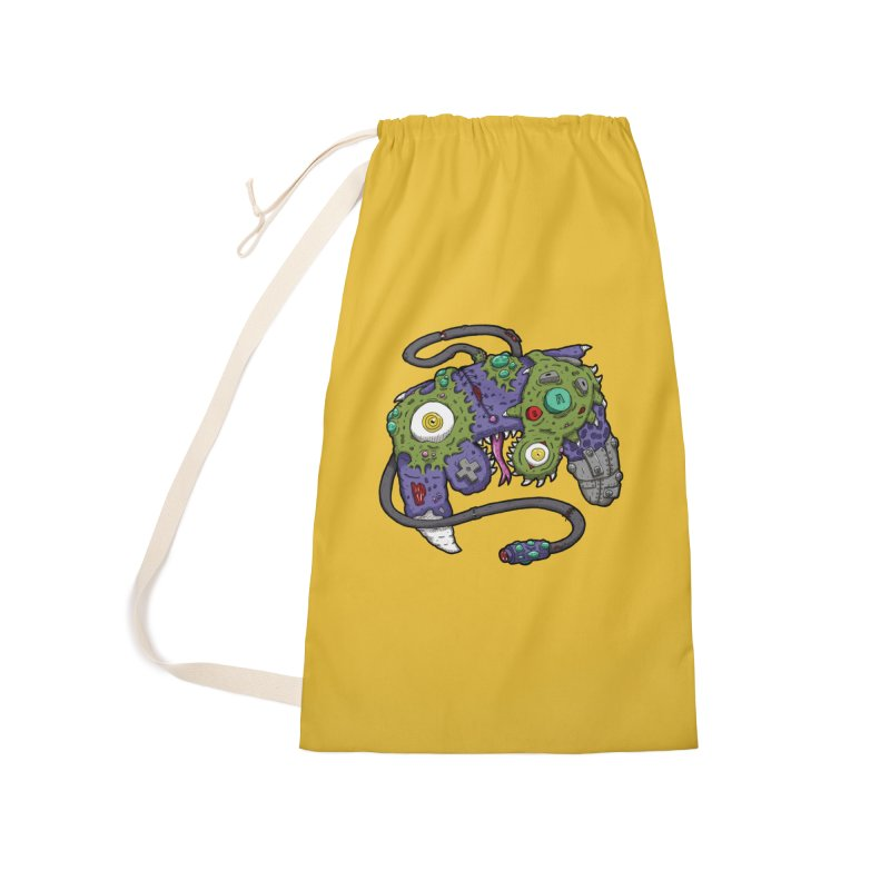 Controller Freaks - G4M3CUB3 Accessories Laundry Bag Bag by Mystic Soda