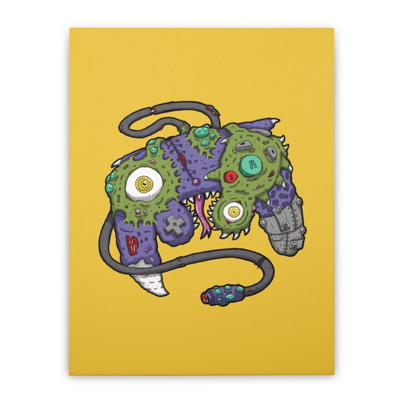 Controller Freaks - G4M3CUB3 Home Stretched Canvas by Mystic Soda