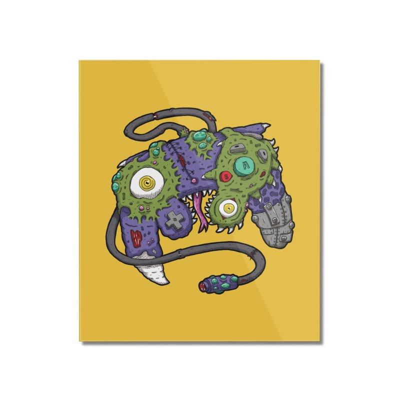 Controller Freaks - G4M3CUB3 Home Mounted Acrylic Print by Mystic Soda