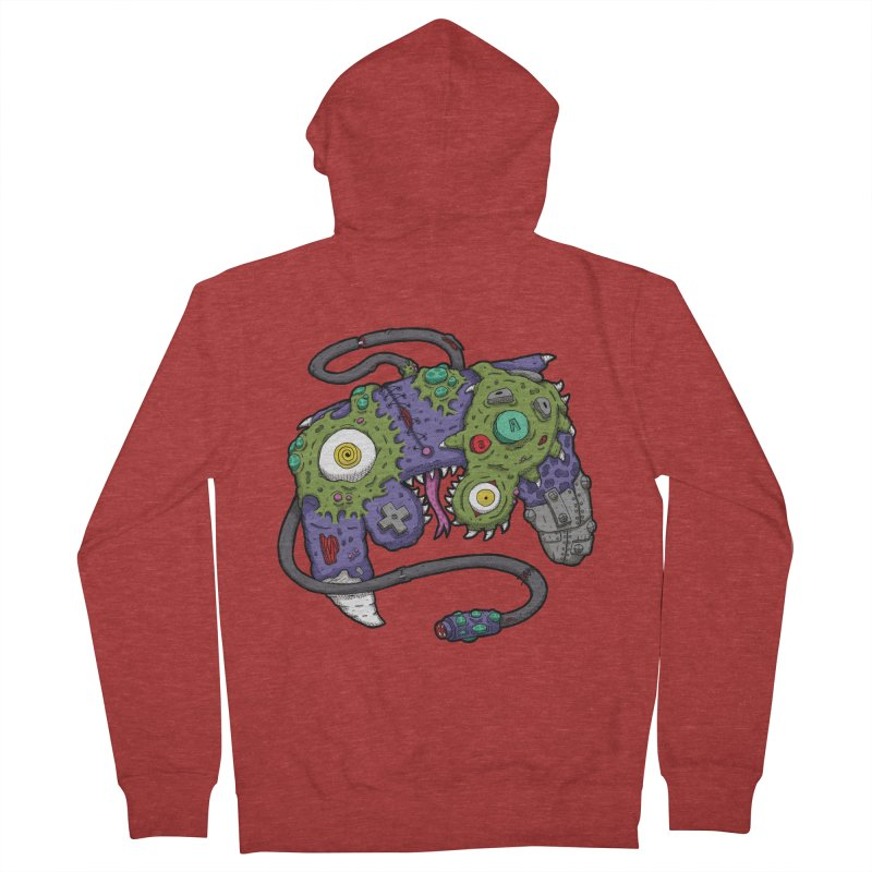 Controller Freaks - G4M3CUB3 Men's French Terry Zip-Up Hoody by Mystic Soda Shoppe