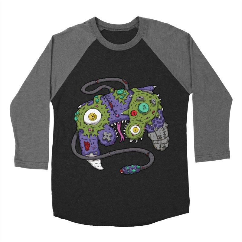 Controller Freaks - The GameCube Women's Baseball Triblend Longsleeve T-Shirt by Mystic Soda Shoppe