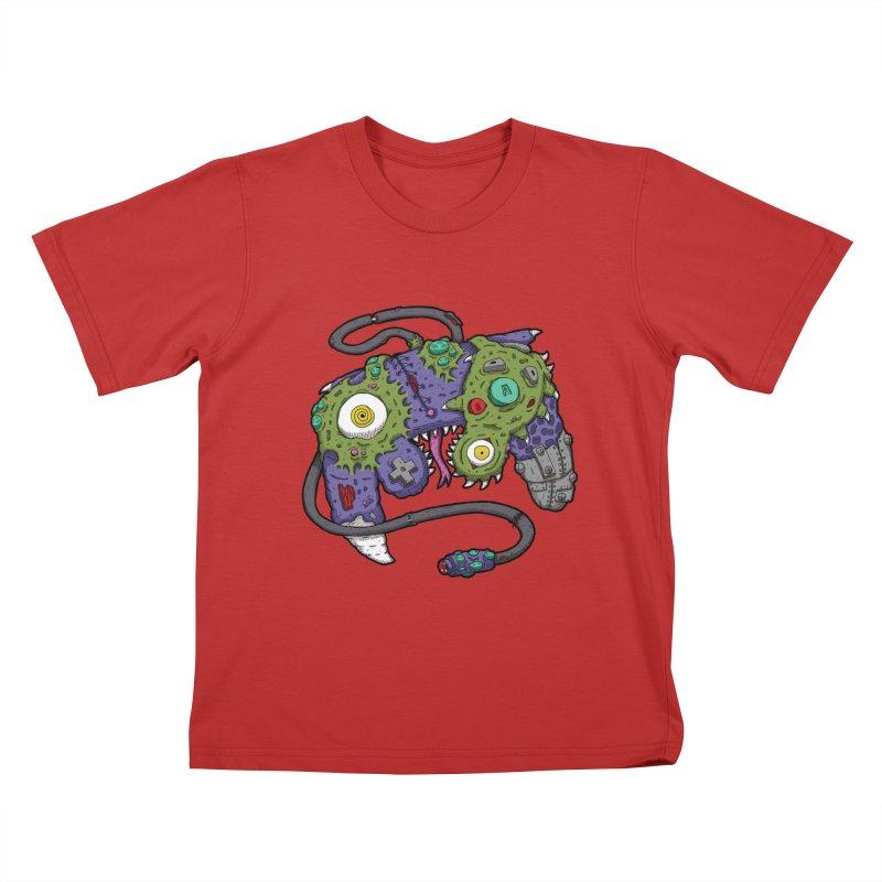 Controller Freaks - G4M3CUB3 Kids T-Shirt by Mystic Soda Shoppe