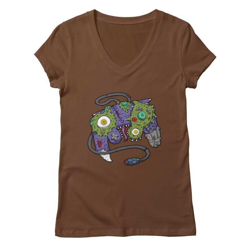 Controller Freaks - The GameCube Women's V-Neck by Mystic Soda Shoppe