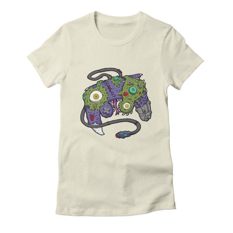 Controller Freaks - The GameCube Women's Fitted T-Shirt by Mystic Soda Shoppe