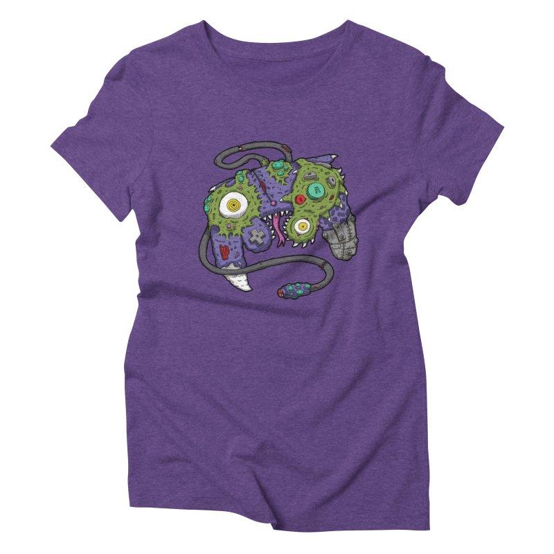 Controller Freaks - The GameCube Women's Triblend T-Shirt by Mystic Soda Shoppe