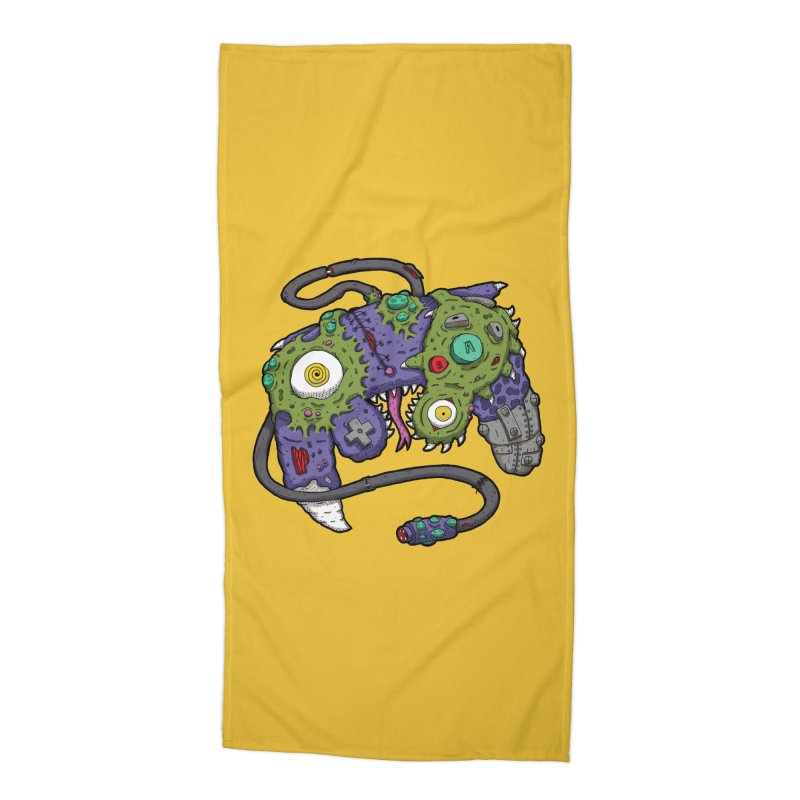 Controller Freaks - The GameCube Accessories Beach Towel by Mystic Soda Shoppe
