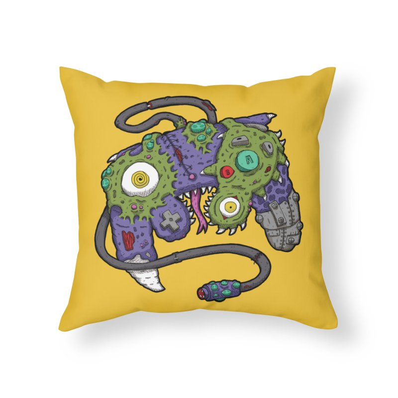 Controller Freaks - The GameCube Home Throw Pillow by Mystic Soda Shoppe