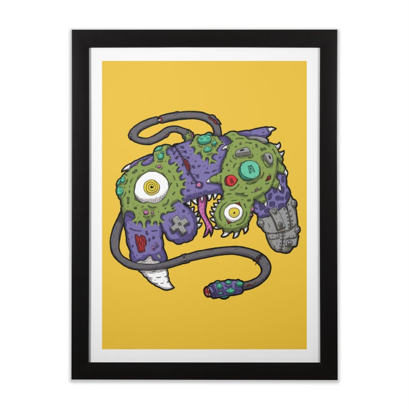 Controller Freaks - The GameCube Home Framed Fine Art Print by Mystic Soda Shoppe