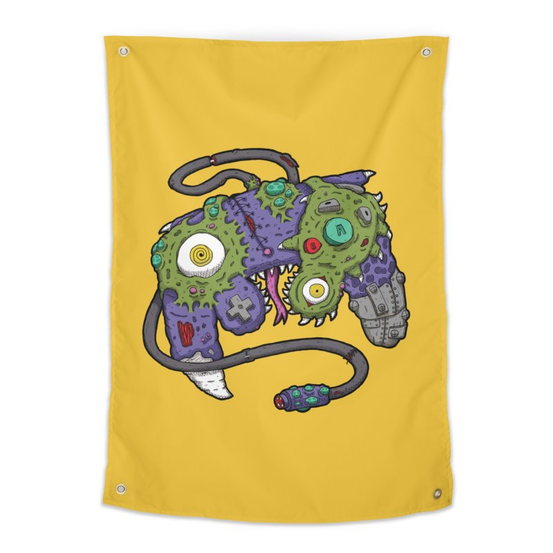 Controller Freaks - The GameCube Home Tapestry by Mystic Soda Shoppe