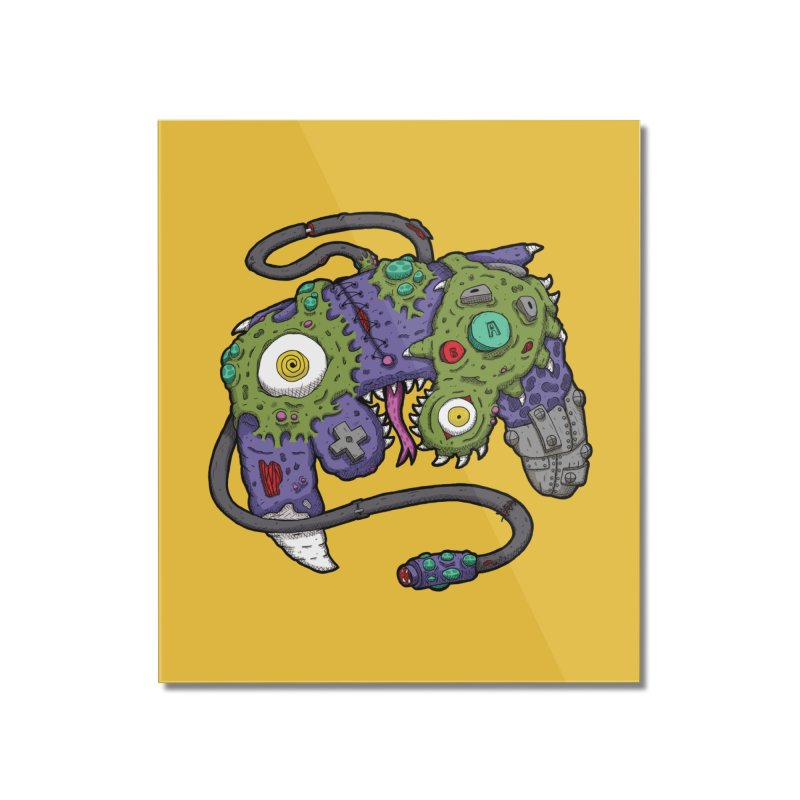 Controller Freaks - The GameCube Home Mounted Acrylic Print by Mystic Soda Shoppe