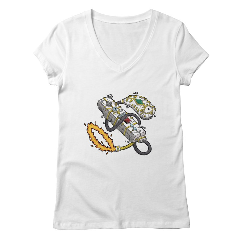 Controller Freaks - The WiiMote Women's V-Neck by Mystic Soda Shoppe