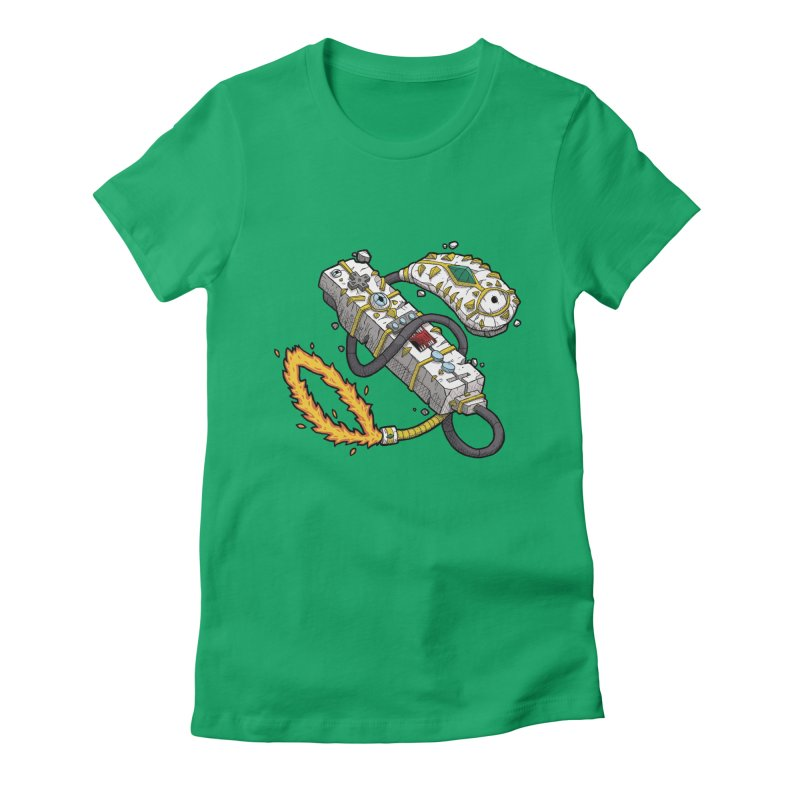 Controller Freaks - The W11-Mote Women's Fitted T-Shirt by Mystic Soda