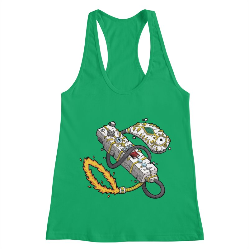 Controller Freaks - The W11-Mote Women's Racerback Tank by Mystic Soda