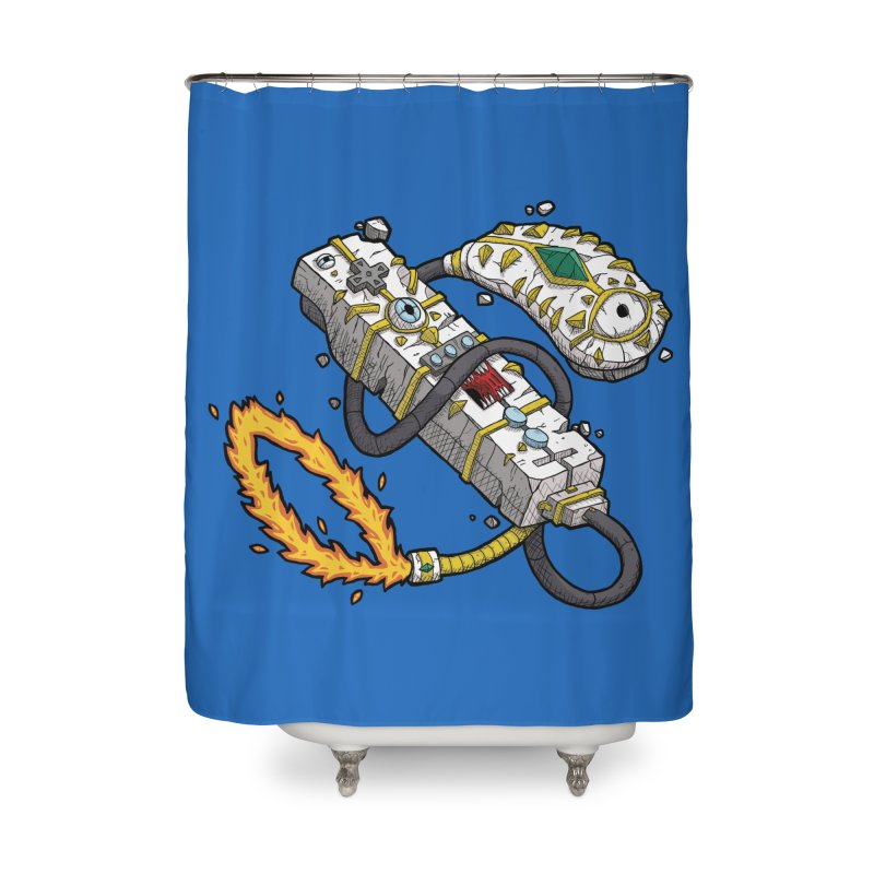 Controller Freaks - The WiiMote Home Shower Curtain by Mystic Soda Shoppe