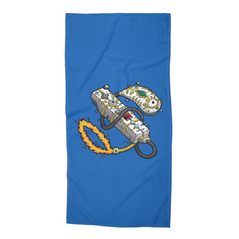 Controller Freaks - The WiiMote Accessories Beach Towel by Mystic Soda Shoppe