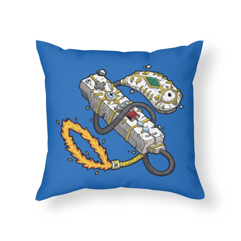 Controller Freaks - The WiiMote Home Throw Pillow by Mystic Soda Shoppe
