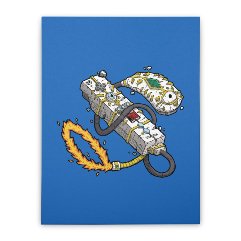 Controller Freaks - The W11-Mote Home Stretched Canvas by Mystic Soda