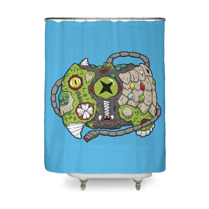 Controller Freaks - The XBOX (Original) Home Shower Curtain by Mystic Soda Shoppe