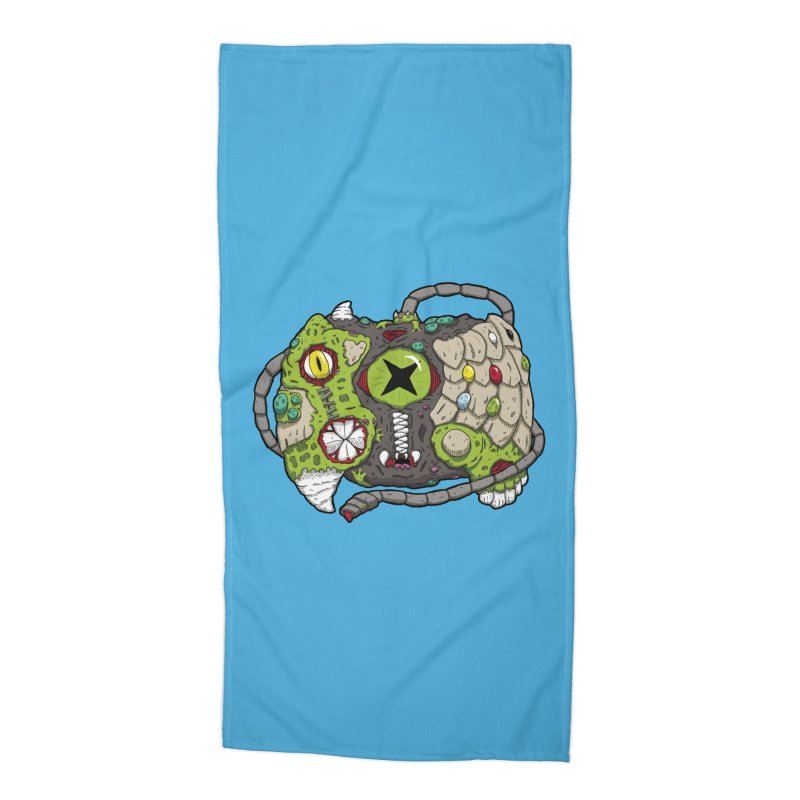 Controller Freaks - The XBOX (Original) Accessories Beach Towel by Mystic Soda Shoppe