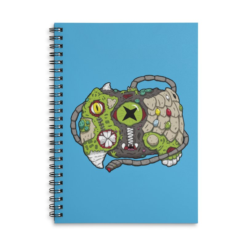 Controller Freaks - Specimen X-B0X Accessories Lined Spiral Notebook by Mystic Soda