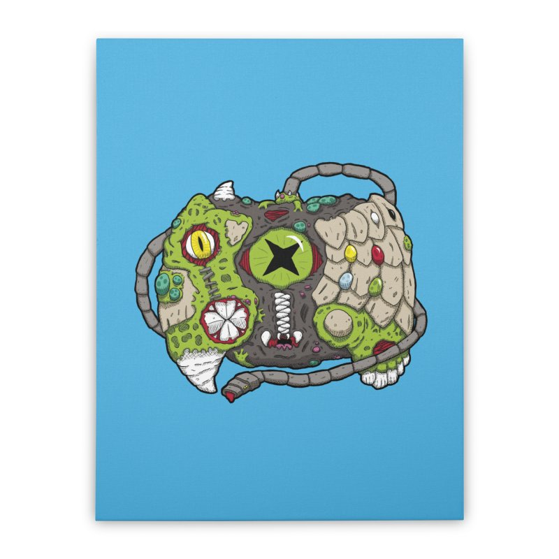 Controller Freaks - Specimen X-B0X Home Stretched Canvas by Mystic Soda