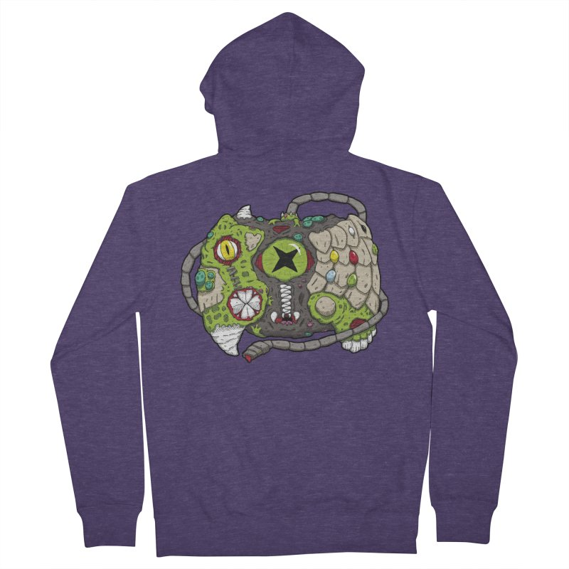 Controller Freaks - The XB0X (Original) Men's French Terry Zip-Up Hoody by Mystic Soda Shoppe