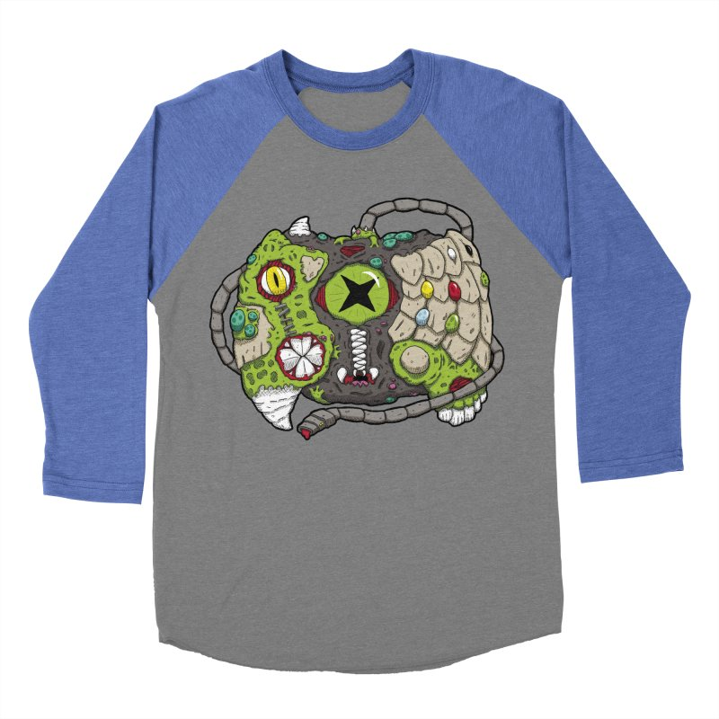 Controller Freaks - Specimen X-B0X Men's Baseball Triblend Longsleeve T-Shirt by Mystic Soda