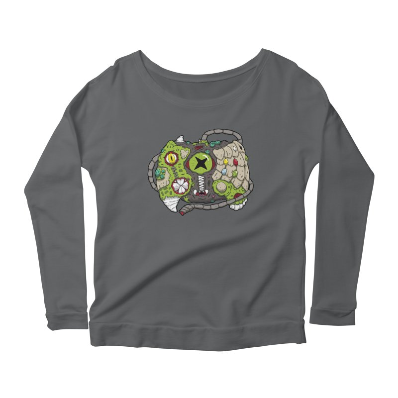 Controller Freaks - The XB0X (Original) Women's Scoop Neck Longsleeve T-Shirt by Mystic Soda Shoppe