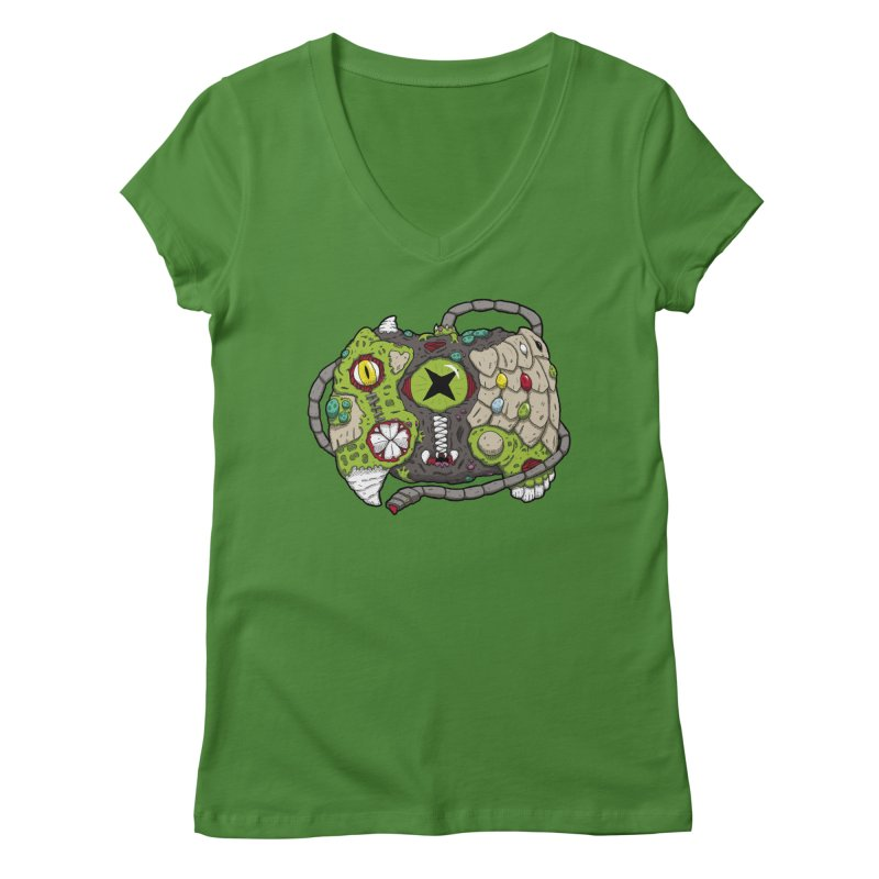 Controller Freaks - The XBOX (Original) Women's Regular V-Neck by Mystic Soda Shoppe