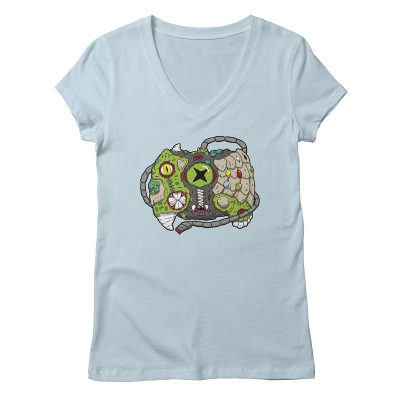 Controller Freaks - The XBOX (Original) Women's V-Neck by Mystic Soda Shoppe