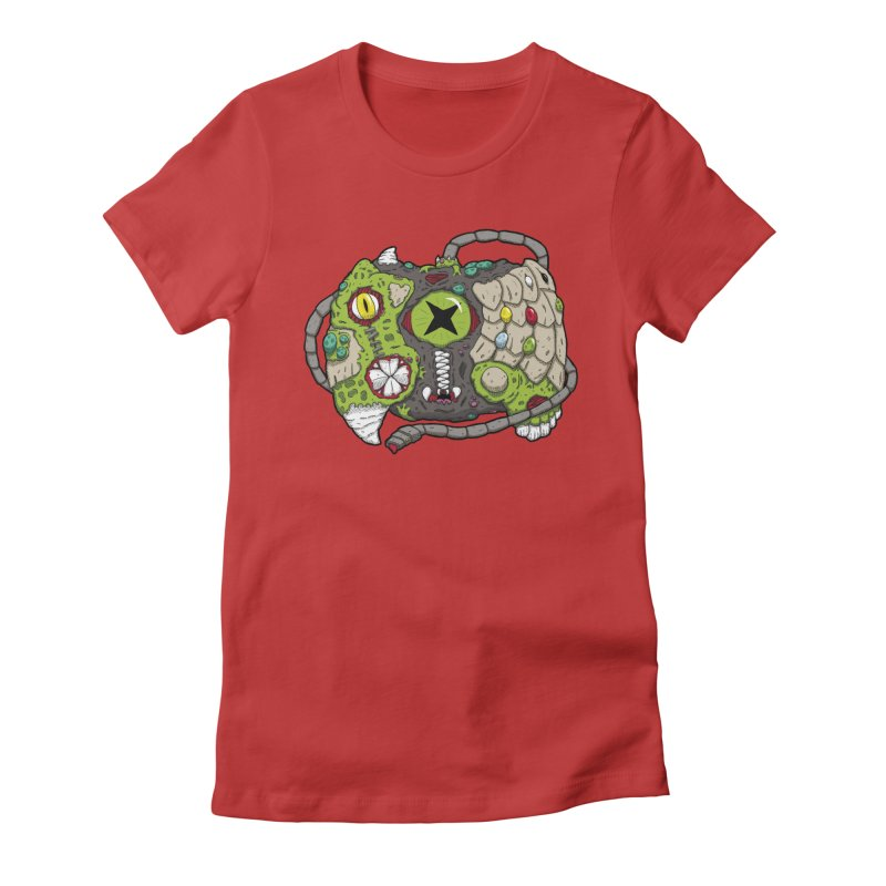 Controller Freaks - The XBOX (Original) Women's Fitted T-Shirt by Mystic Soda Shoppe