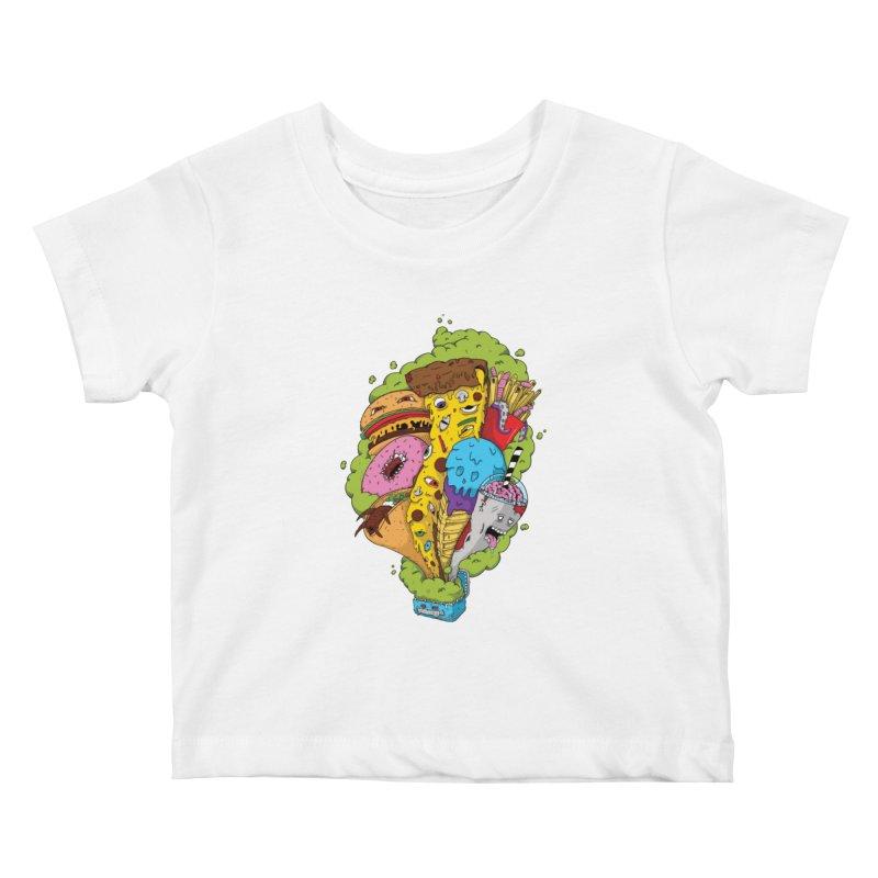 Pandora's Lunch Box Kids Baby T-Shirt by Mystic Soda