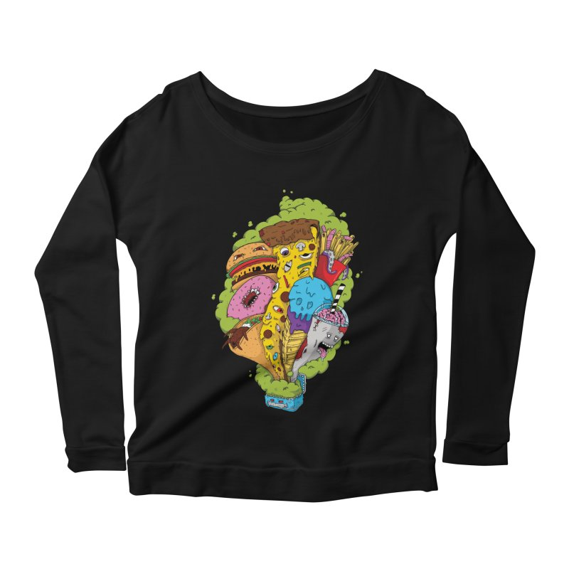 Pandora's Lunch Box Women's Scoop Neck Longsleeve T-Shirt by Mystic Soda Shoppe