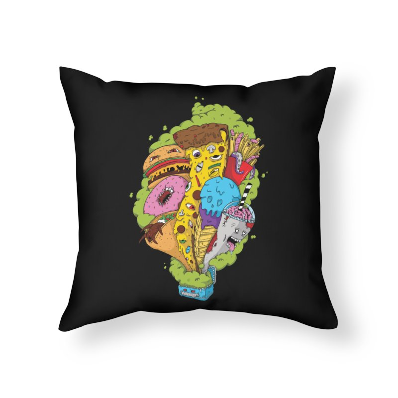 Pandora's Lunch Box Home Throw Pillow by Mystic Soda