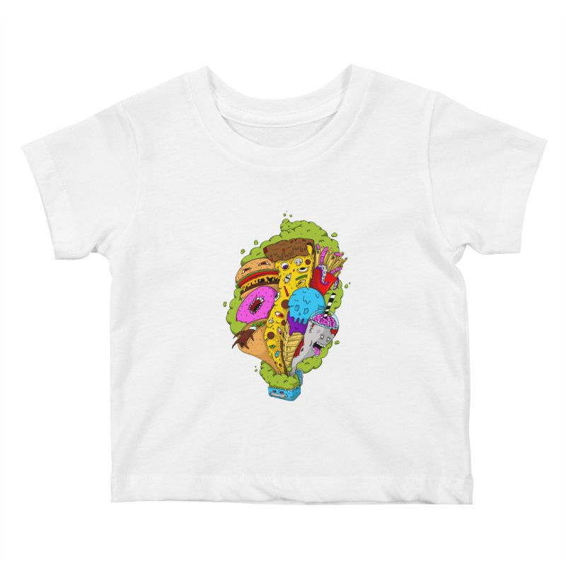 Pandora's Lunch Box Kids Baby T-Shirt by Mystic Soda Shoppe
