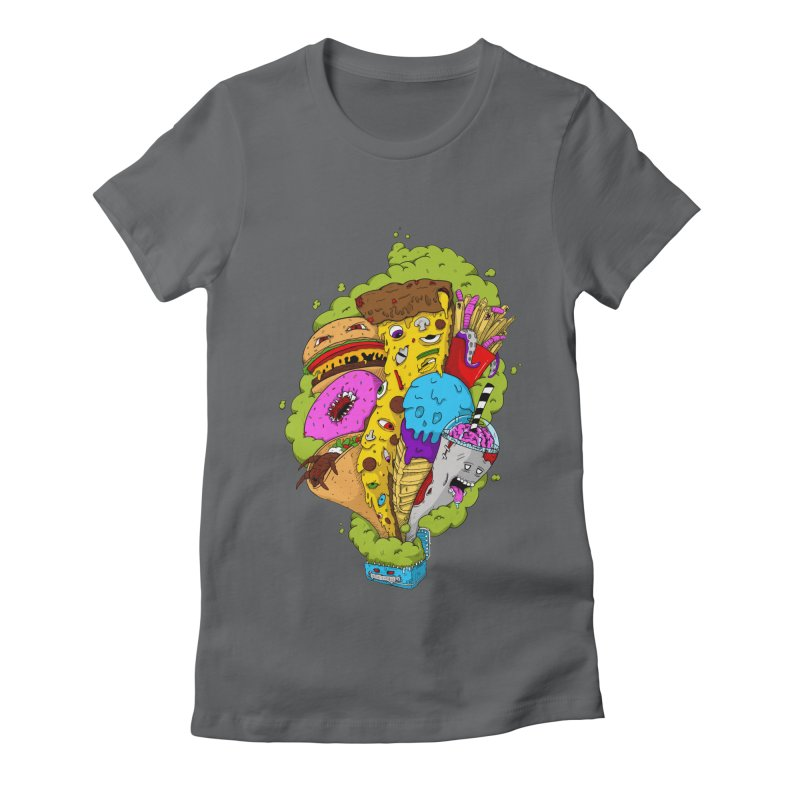 Pandora's Lunch Box Women's Fitted T-Shirt by Mystic Soda Shoppe