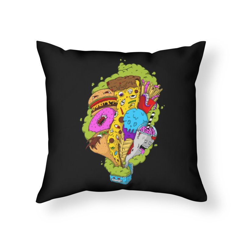 Pandora's Lunch Box Home Throw Pillow by Mystic Soda Shoppe