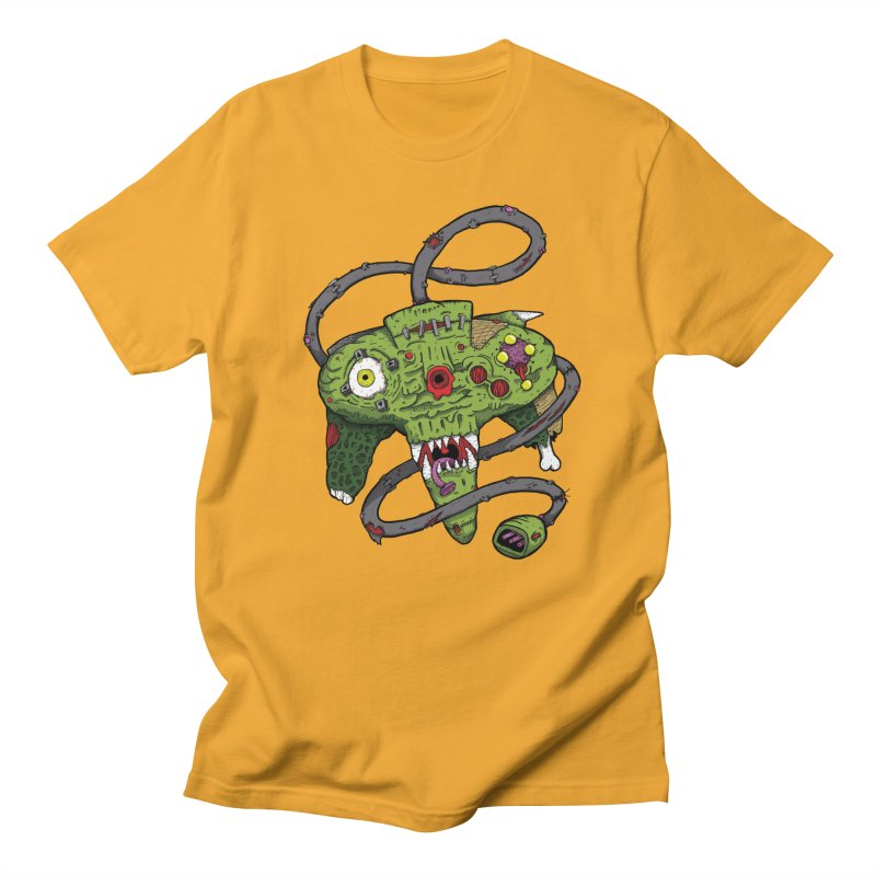 Controller Freaks - N64 in Men's Regular T-Shirt Gold by Mystic Soda Shoppe