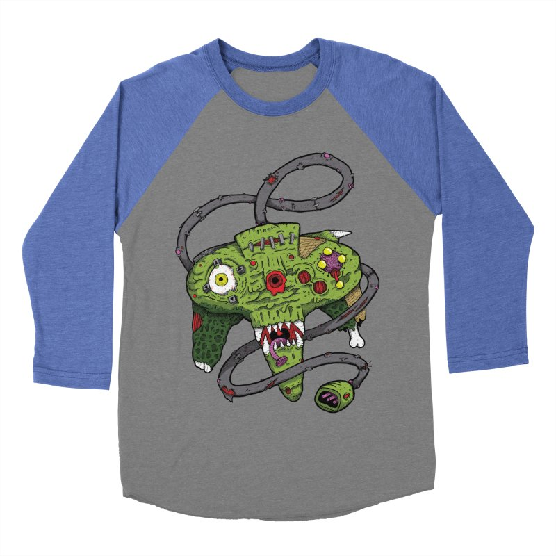 Controller Freaks - N64 Men's Baseball Triblend T-Shirt by Mystic Soda Shoppe