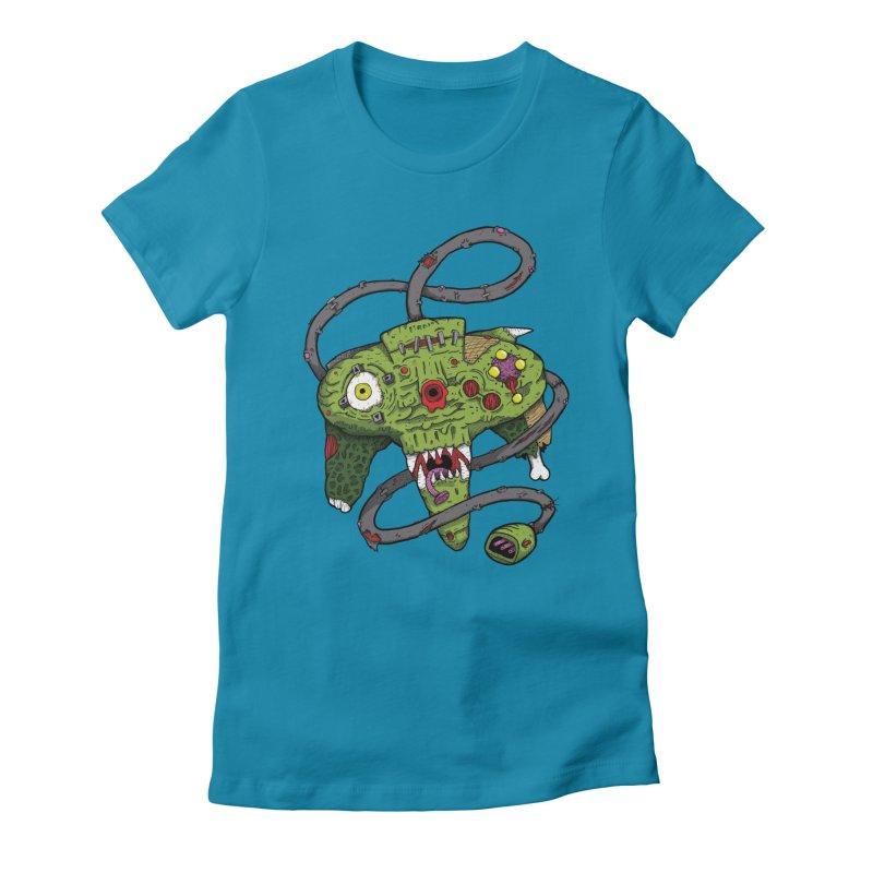 Controller Freaks - N64 Women's Fitted T-Shirt by Mystic Soda Shoppe