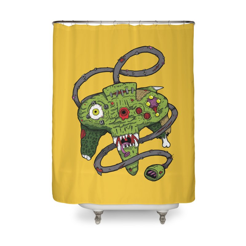 Controller Freaks - N64 Home Shower Curtain by Mystic Soda Shoppe