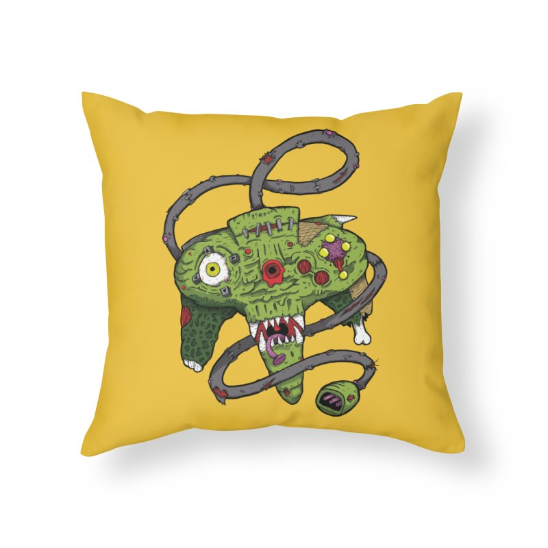 Controller Freaks - N64 Home Throw Pillow by Mystic Soda Shoppe