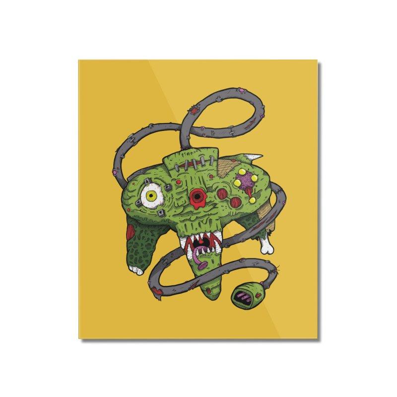 Controller Freaks - N64 Home Mounted Acrylic Print by Mystic Soda Shoppe